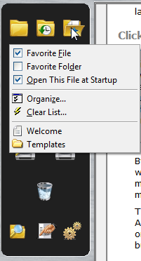 Favourite Files and Folders